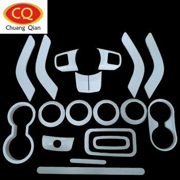 18Pcs Full Set Decoration Trim Kit Steering Wheel Trim Door Handle Cover For Jeep Wrangler JK 2011-2018 Car Styling