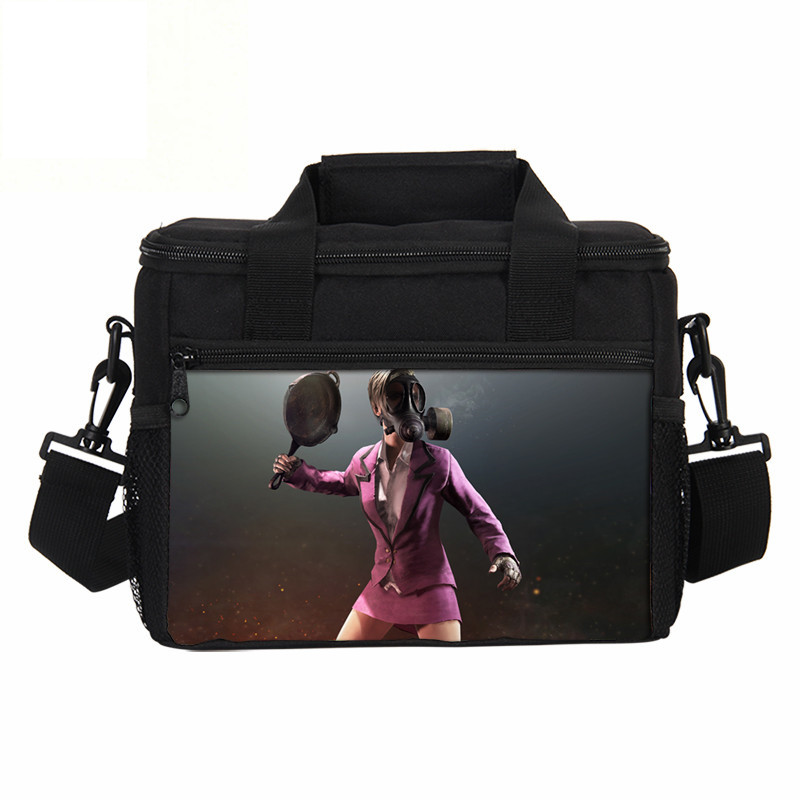 VEEVANV Men Lunch Bags Fashion Playerunknowns Battlegrounds Game Printed Women Picnic Shoulder Bag Portable Storage Cooler Box