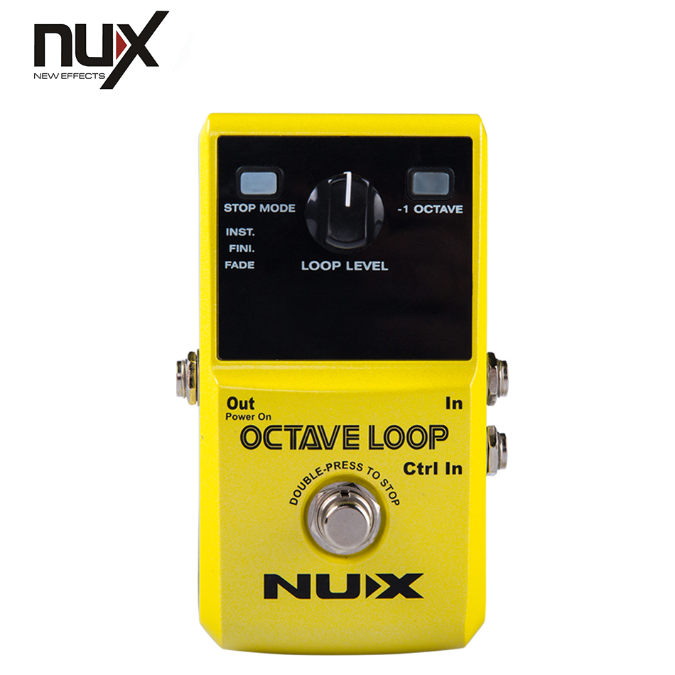 Guitar effect pedal NUX Octave Loop Pedal guitar accessories octave effect nux octave loop looper guitar effect pedal with 1 octave effect infinite layers with bass line true bypass guitar pedal effect
