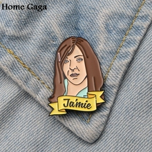 Homegaga Jamie Zinc Enamel pins para backpack pride clothes medal for bag shirt hat badges brooches men women gifts D1797