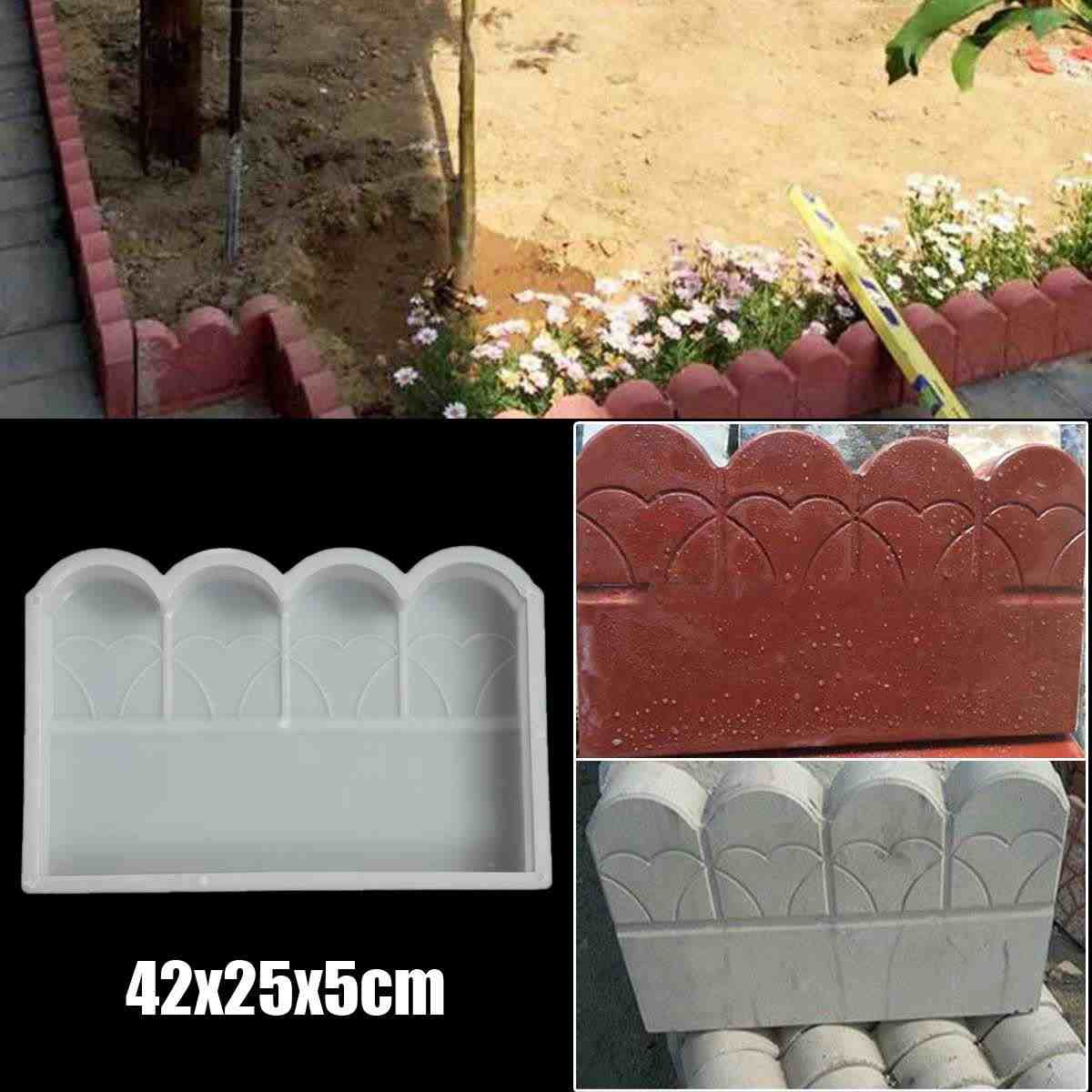 Plastic Making DIY Paving Mould Home Garden Floor Road Concrete Molds Stone Brick Path Mold Buildings Accessories 42x25x5cm