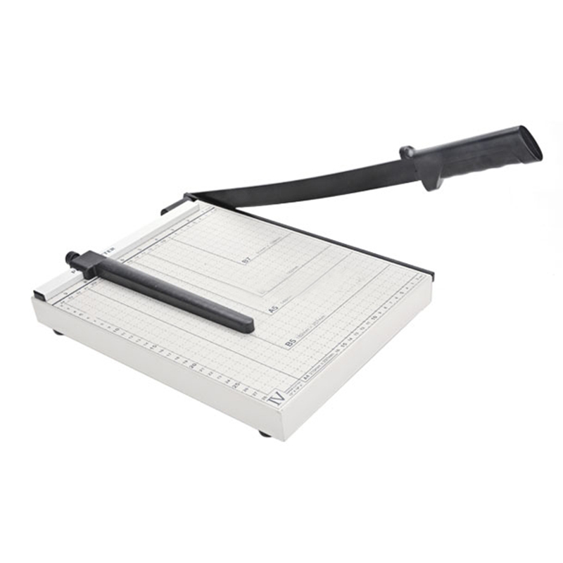 Trimmer and Guillotine Paper Cutter DC10, A4 Cut Length, 10 Sheets Capacity, Portable, Office & School & Home Supplies