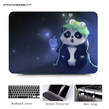 цена POSEIT Laptop Case For Apple New Macbook Pro 13 15 2016 Model A1706 A1707 With Touch Bar Print Hard Shell Full Body Cover Case онлайн в 2017 году