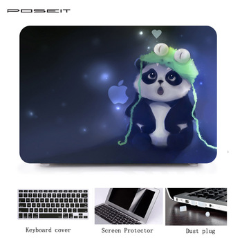 цена на POSEIT Laptop Case For Apple New Macbook Pro 13 15 2016 Model A1706 A1707 With Touch Bar Print Hard Shell Full Body Cover Case