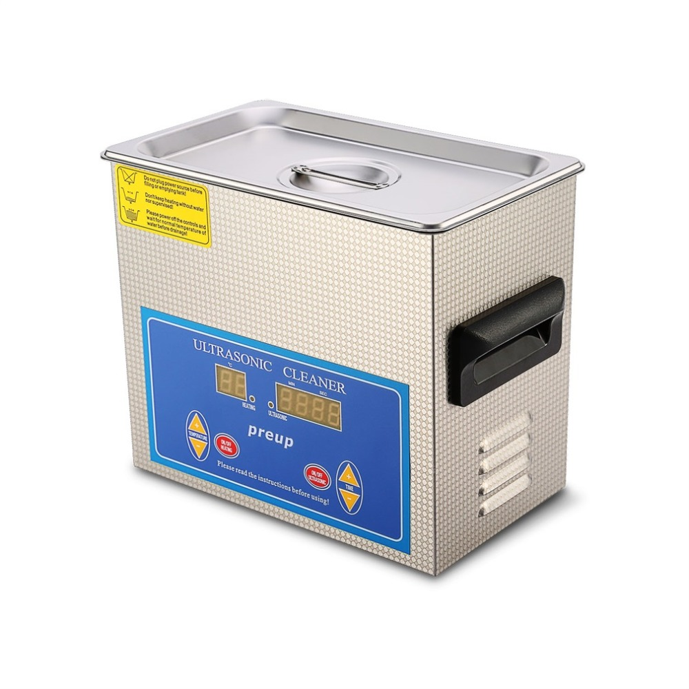 3L Commercial HEATED ULTRASONIC CLEANER with Digital Timer Jewelry Watch Glasses Cleaner Large Capacity Cleaner Solution