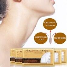 5Pcs Neck Masks Crystal Collagen Whitening Anti-Aging Nourishing Neck Firming Moisturizing Anti Wrinkle Whitening Neck Patches
