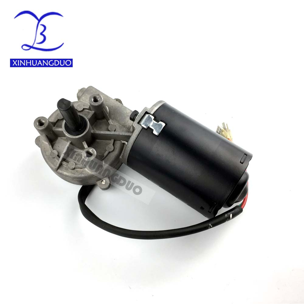 GW6280 DC 24V 30 50 100 rpm Electric Worm Gear Motor Right version Self-locking Garage door replacement Windshield wiper Grill D