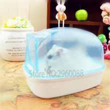 2017 New Free shipping Bathroom bathroom Sauna Bathtub Small Pet Hamster Mouse Squirrel can effectively prevent the bath fly out