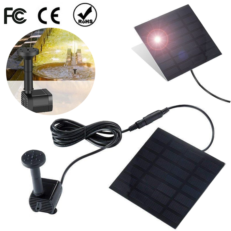 200L/H Solar Powered Fountain Water Pump Garden Miniature Floating Fountain Solar Direct Drive Aquarium Submersible Water Pump200L/H Solar Powered Fountain Water Pump Garden Miniature Floating Fountain Solar Direct Drive Aquarium Submersible Water Pump