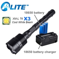 3T6 6000 Lumen Linternas 3 LED Tactical Flashlight Torch Lampe Torche Camping Torcia Led Rechargeable 18650