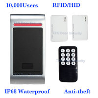 Advanced Microprocessor IP68 keypad Outdoors Waterproof Standalone Access Controller Remote control 10,000Users Card to Entry