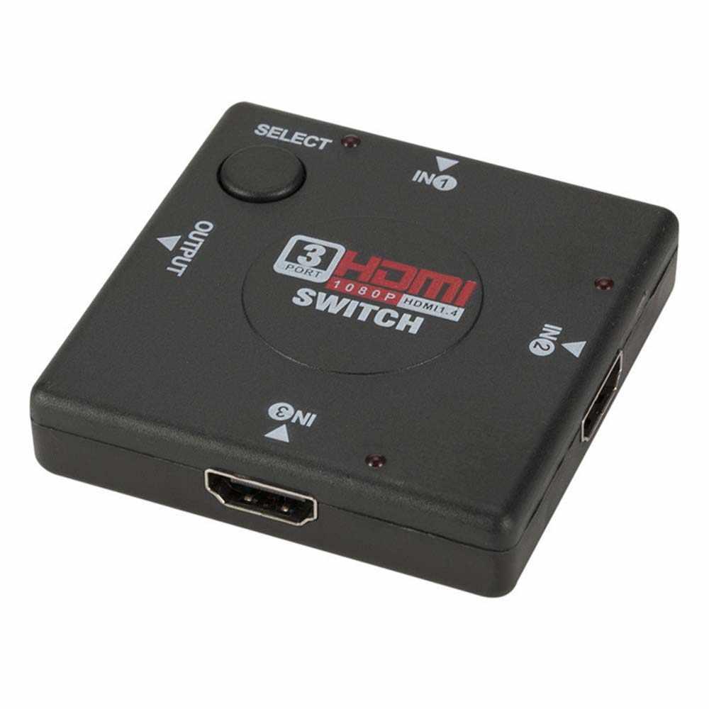 YuBeter przełącznik HDMI konwerter 3 Port 1080p HDMI przejściówka rozgałęziająca dla PS3 STB projektor TV DVD DVR PC DLP z interfejs HDMI