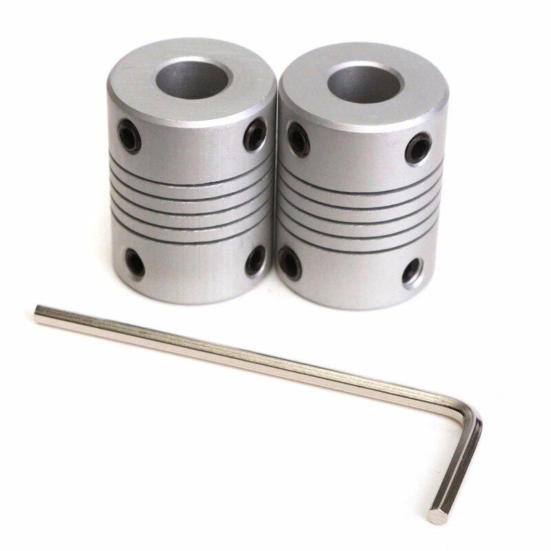 NEW 2 PCS 5x8mm Motor Jaw Shaft Coupler Aluminum 5mm 8mm Flexible Coupling for 3D Printer Z Axis RepRap Mendel Prusa CNC m6 feed shaft axis reprappro mendel huxley for 3d printer
