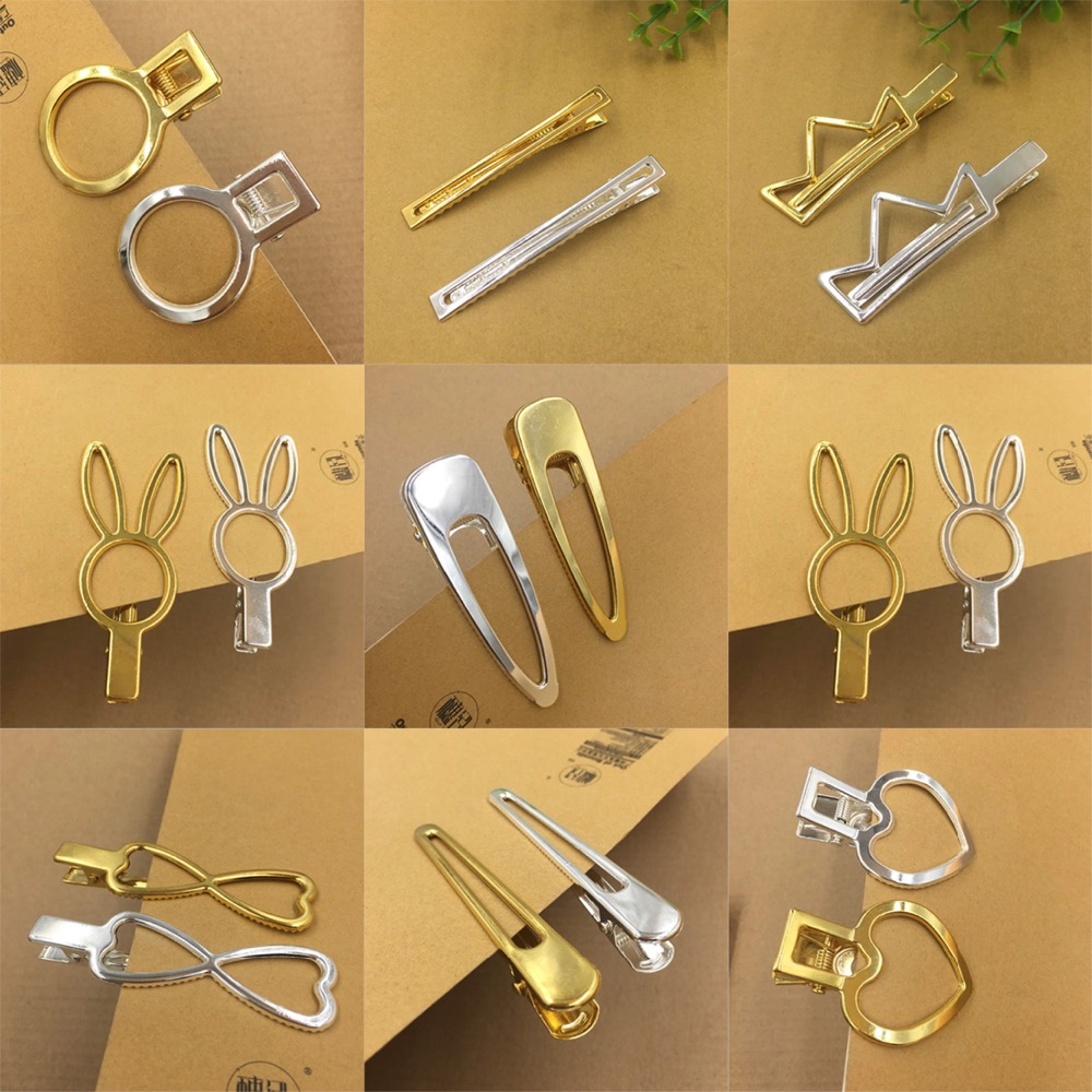 Gold Kitsch Direct Metal Blow Dry Clips 6pc