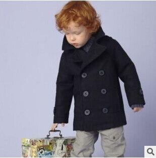 3c9ea8b78 1 a 5 años abrigos para niños niños de los bebés de invierno outwear foso de  lana de manga larga uhba103 en Trencas de Mamá y bebé en AliExpress.com ...