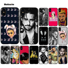 Babaite złe Bunny Maluma Ozuna POP Hip Hop TPU miękka bateria do telefonu etui na telefon do Apple iPhone 8 7 6 6S Plus X XS MAX 5 5S SE XR(China)
