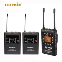 Dual Channel UHF Wireless Microphone System for Canon Nikon Sony Panasonic DSLR camera &Camcorder OK 8802R+8800B
