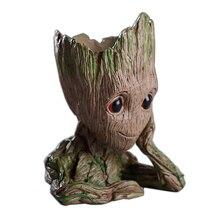 Дерево человек Baby аниме фигурку куклы Penholder грунта стражи галактики 2 Модель Hero Pen горшок и цветочный горшок игрушечные лошадки