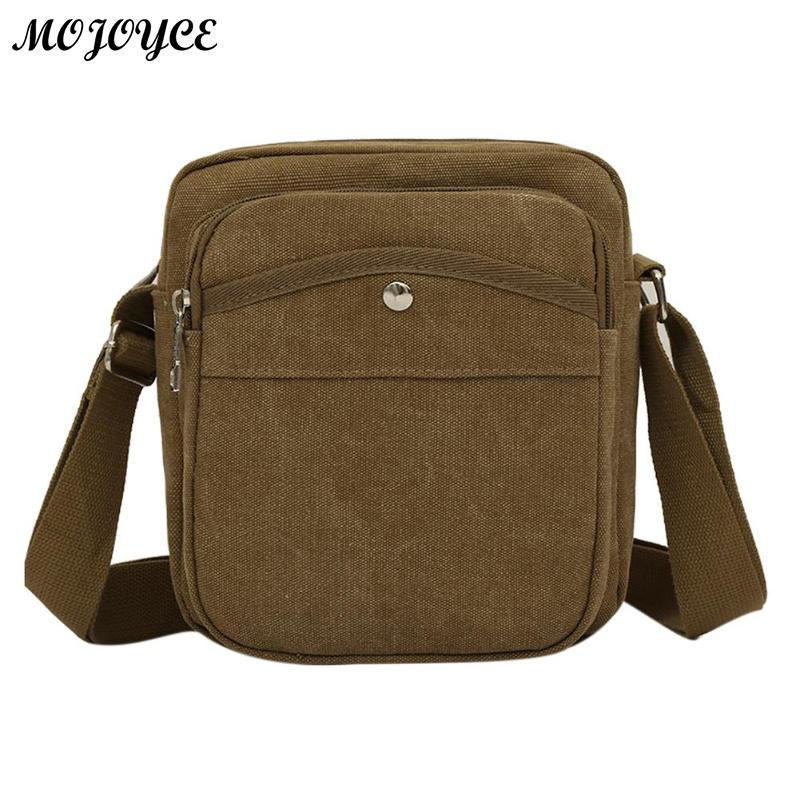 2018 New Classic Men Business Bag Mini Canvas Crossbody Bag Simple Travel Casual Shoulder Messenger Bag Fashion Small Bag