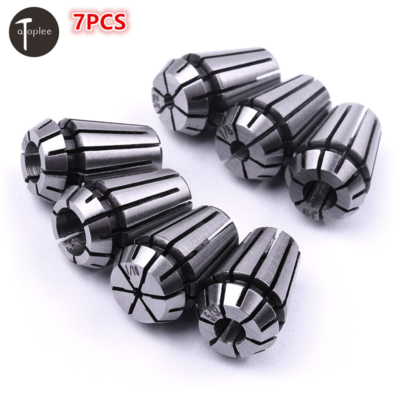 7PCS/set 1/16-1/4 ER11 Collet Precision Spring steel Collet Chuck Set CNC Milling Lathe Tool&Engraving Spindle Motor 13pcs set 1065 carbon steel er11 spring collet set for cnc engraving machine