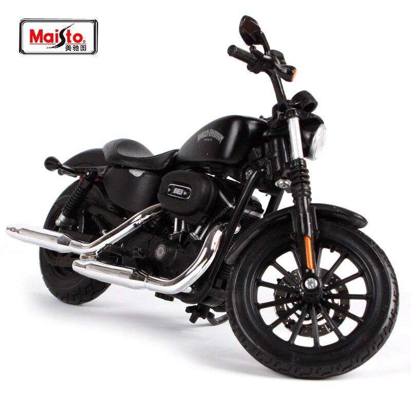 Maisto 1:12 2014 Harley Sportster IRON 883 Hűvös fekete motorkerékpár modell INGYENES SZÁLLÍTÁS 32326