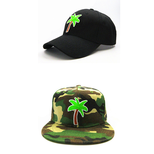 4a9e1153946f9 LDSLYJR Tropical tree embroidery cotton Baseball Cap hip-hop cap Adjustable Snapback  Hats for kids and adult size 318