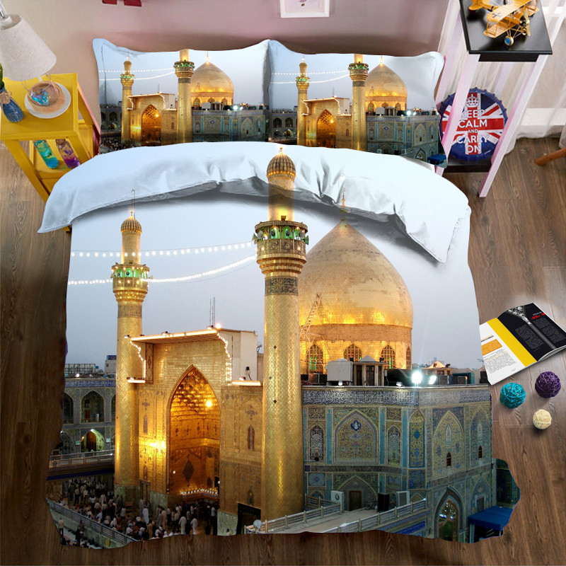 2017 bedding set 3D digital printing City Building warm duvet cover set US size super King size