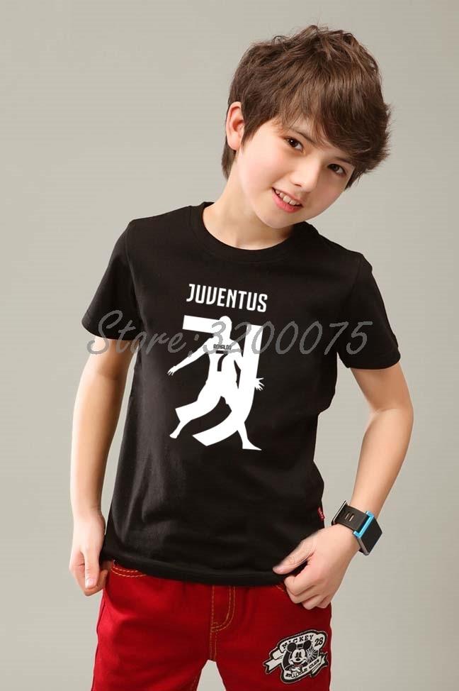 reputable site 13be5 b065c Kids CR7 Cristiano Ronaldo 7 T-shirt Clothes T Shirt Youth boys girl tshirt  o-neck tee W19032802