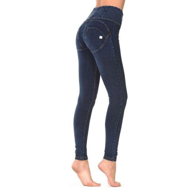 Freddy Pants High Waist Leggings Plus Size Push Up Jeans Hip Elastic For Jeans Capris Elastic Pants Bodybuilding