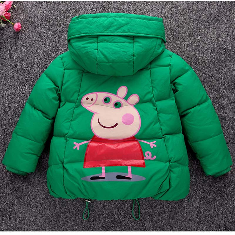 Boys Girl Winter Down Coat 2017 New Children Winter Jackets Cartoon Hooded Enfant Casual Outerwear Thick Warm Baby Kids Clothes