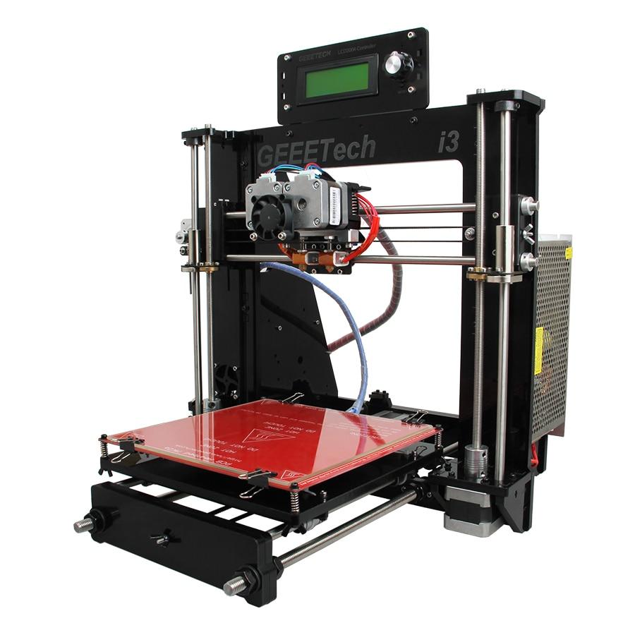 Geeetech  I3 Pro C 3D Printer Impressora Dual Extruder LCD2004 GT2560 Control Board 200x200x180mm Ship from Germany