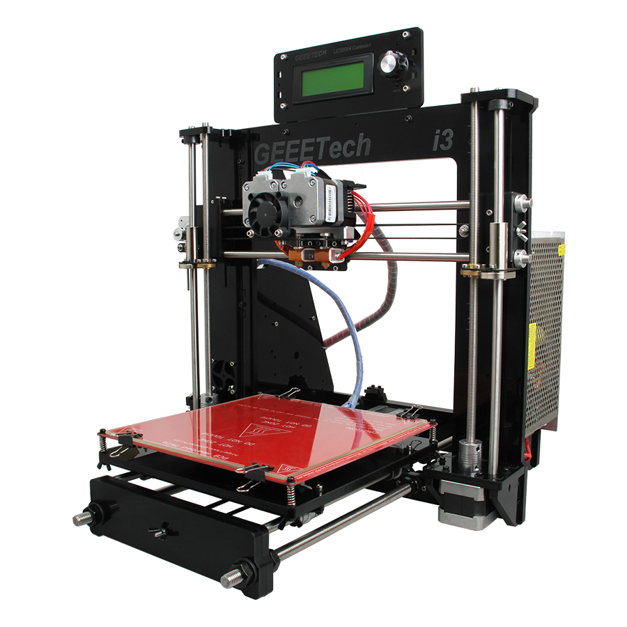 Geeetech I3 Pro C 3D Printer Impressora Dual Extruder LCD2004 GT2560 Control Board 200x200x180mm Ship from Germany