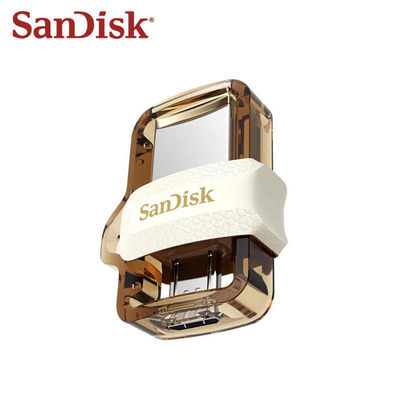 SanDisk 3.0 64GB OTG USB clé USB 32GB clé USB Micro USB stylo lecteur double lecteur U disque pour téléphones Android