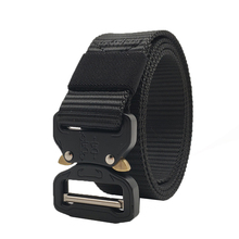 Tactical Belts Nylon Military Waist Belt with Metal Buckle Adjustable Heavy Duty Training Waist Belt Hunting Accessories 125cm