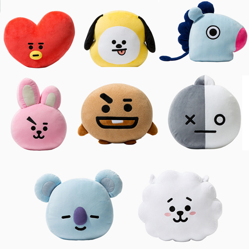 Costume Props New Kpop Bangtan Boys Bts Bt21 Vapp Same Pillow Plush Cushion Warm Bolster Q Back Soft Stuffed Doll 25 Cm Tata Cooky Chimmy Strong Packing