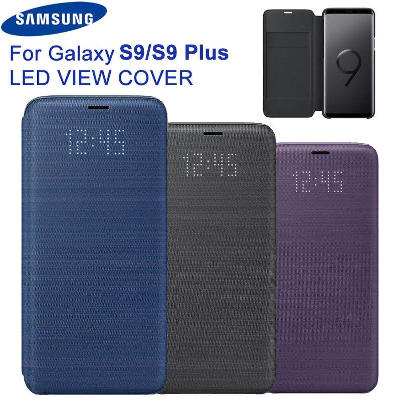 D'origine Samsung LED Vue Couverture Couverture Intelligente Téléphone étui pour Samsung Galaxy S9 G9600 S9 + S9 Plus G9650 Fonction Sommeil Carte Poche