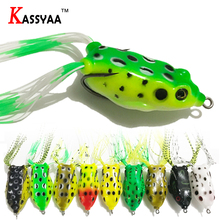 KASSYAA Big Frog Lure Top Water Fishing Soft Bait Hollow Live Life 3D Quality Tube Baits Breble Hooks Plastic KXY036/37