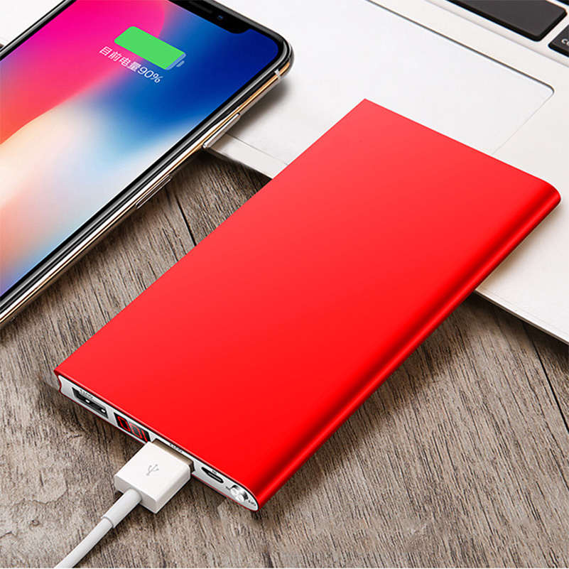 New Portable Ultra thin Polymer 20000mAh Power Bank Poverbank Dual USB Ports External Battery Charger for
