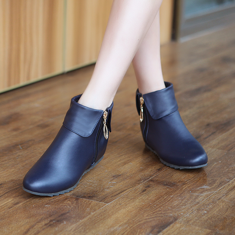 2017 Winter Boots Botas Mujer Big Size 34-50 Hot New Fashion Height Increasing For Women Boots Ankle Woman Winter Shoes F4-1
