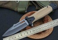 HQ DA148 440C Blade Folding Knife G10 Handle Hunting Carambit Survival Tactical Utility Bushcraft Pocket Military Knifes