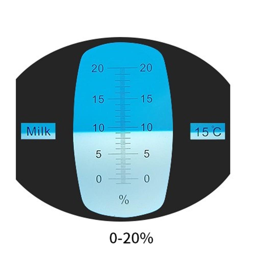 0-20% Milk concentration measuring instrument Meter Tester Handheld refractometer Automatic temperate compensation sweetness test refractometer sugar measuring reader meter range 0 20