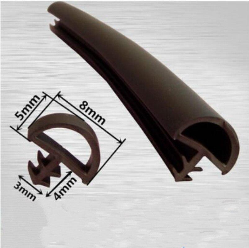 5M PVC Wooden Door Window Sash Seal Bumper Strip Weatherstrip Sound Insulation