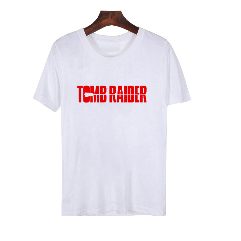 Tomb Tater Game T-Shirt Men Casual Tomb Raider Cotton Short Sleeve T Shirt Male Summer Round Neck Gaming Character MenS Top