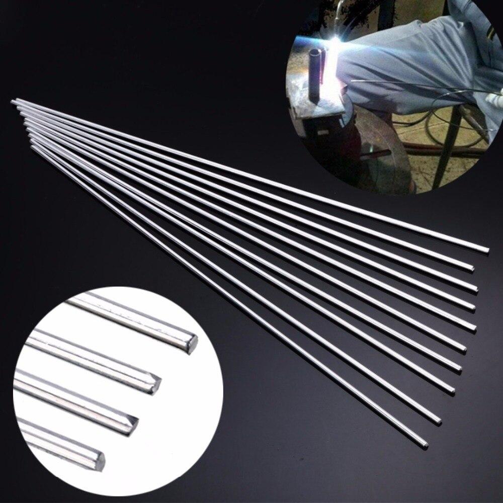 10pcs Aluminum Magnesium Welding Rod Low Temperature Mental Welding Sticks Silver 3.2mm*33cm