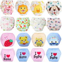 10Pcs Cloth Diapers Baby Nappies Reusable Cotton Diaper Child Diaper Washable Boys Girls Traning Pants All