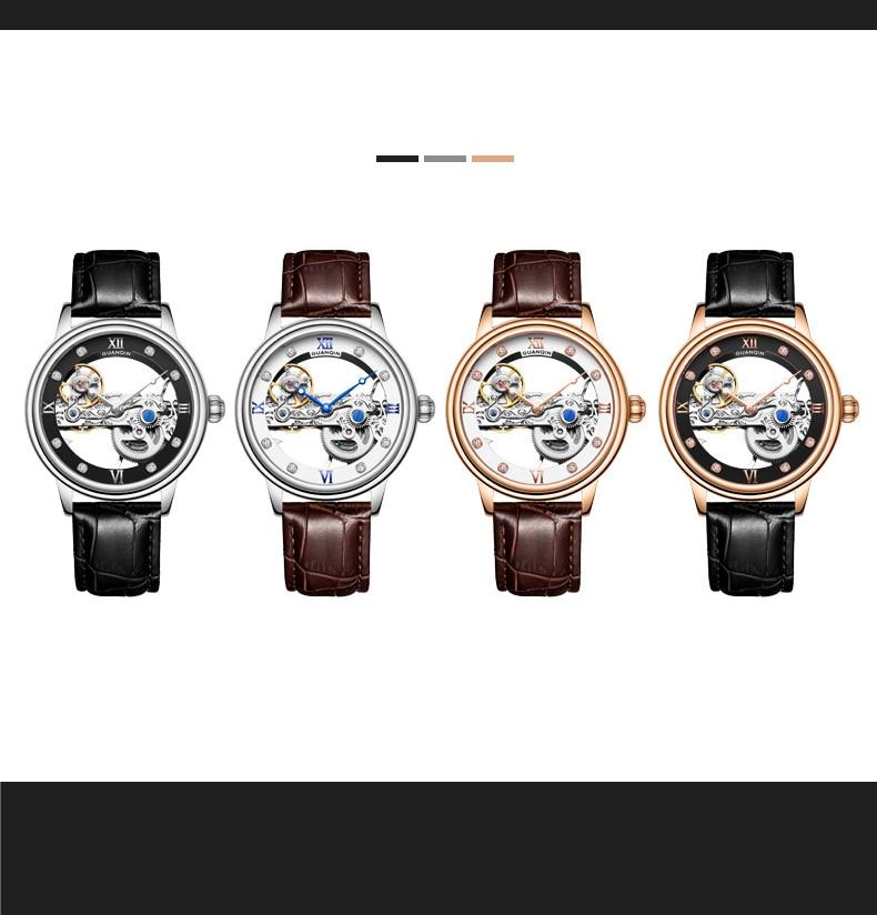 HTB135oYc8GE3KVjSZFhq6AkaFXaM GUANQIN 2019 men watches top brand luxury Automatic Luminous clock men Tourbillon waterproof gold Mechanical relogio masculino