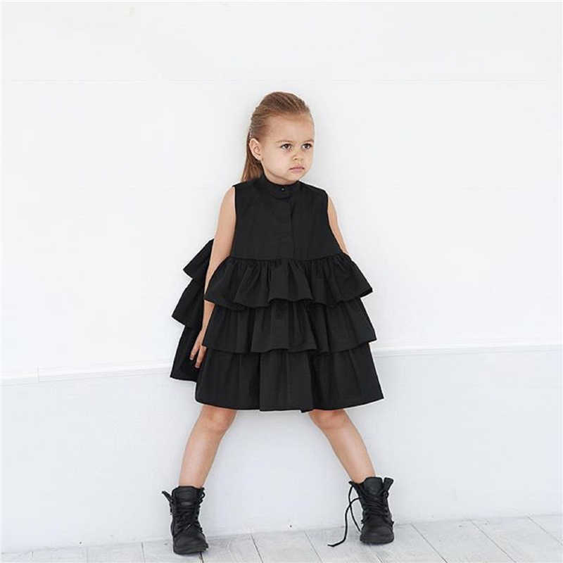 Emmababy 1-6Y Toddler Kid Baby Girls chiffon Ruffles dress Party Pageant Princess Summer Tutu baby girl Dresses Clothes