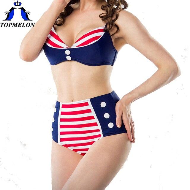 Cintura alta maiô Vintage cintura alta biquíni maiôs de cintura alta  biquini biquini swimwear swimwear retro ab02883be0c