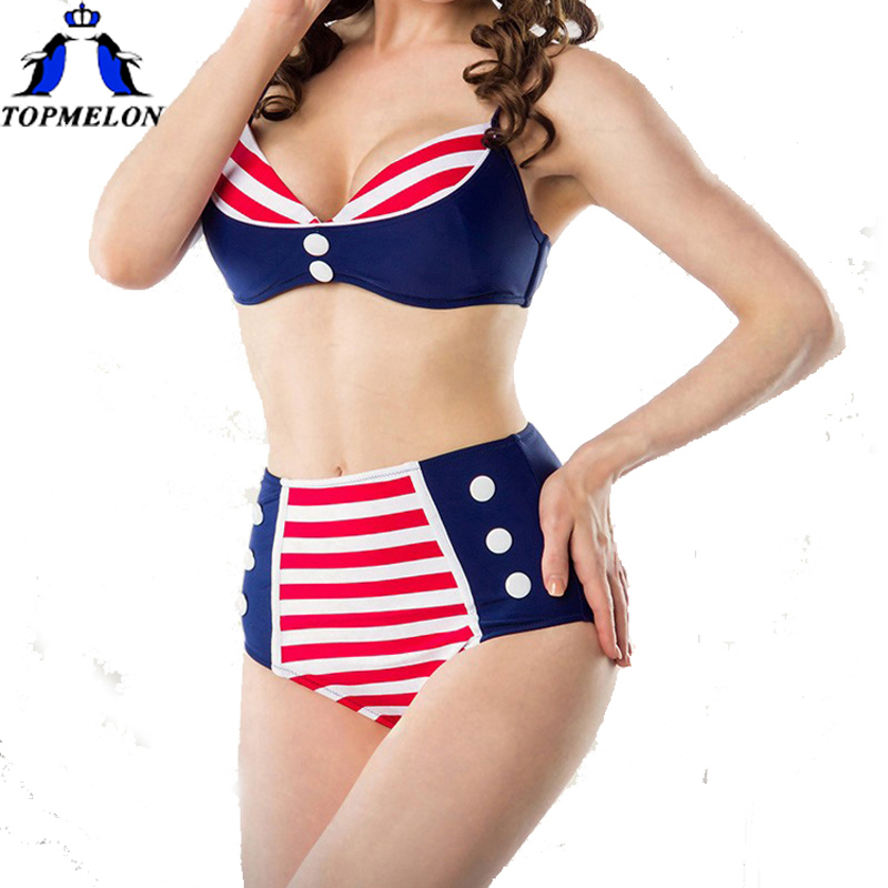 Taille haute maillot de bain Vintage taille haute bikini maillots de bain taille haute biquini vintage maillots de bain biquini rétro maillots de bain