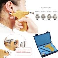 Professional Ear Piercing Gun Stainless Steel Safe Sterile Ear Nose Navel Body Piercing Gun Tool Kit